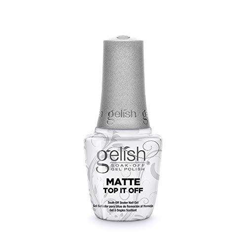 Gelish Matte Top It Off Sealer Gel Top Coat LED Gel Polish, 0.5 oz.