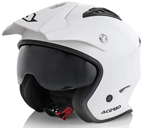 Acerbis - Casco Jet Aria - Color blanco - Talla L