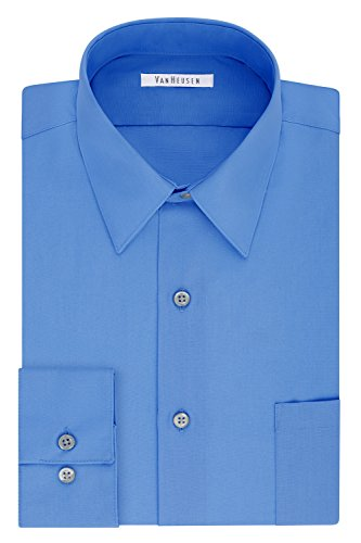 Van Heusen Men's Size FIT Dress Shirts Poplin (Big and Tall), Pacifico, 19' Neck 35'-36' Sleeve (3X-Large)