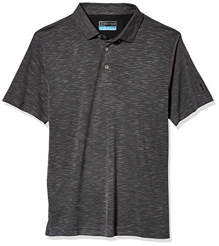 PGA TOUR Jungen Slub Short Sleeve Polo Shirt Golfhemd, Caviar, 18 Years