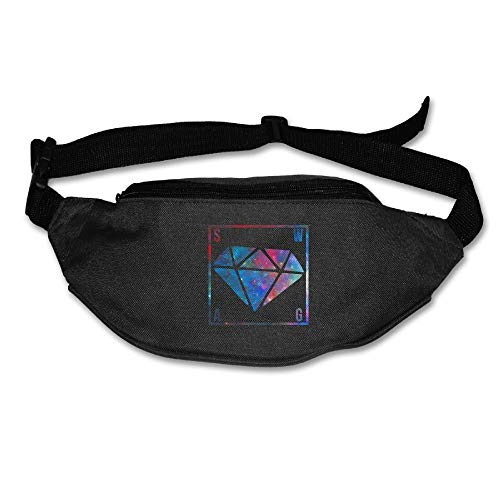 Riñonera Deportivo Bolso Cintura Cinturón Ajustable Running Belt Bolsa de Correr Swag Galaxy Diamante