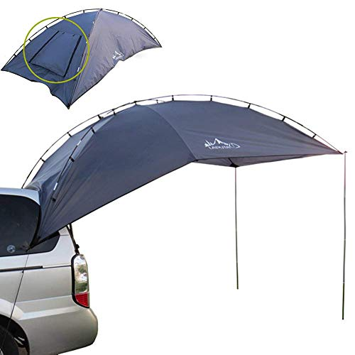 LLSS Car Tail Account Outdoor Camping Tent Folding Portable Car Shelter Anti-UV Car Awning Waterproof tent Suitable for 3-4 Persons Beach Fishing Picnic