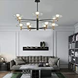 Scandinavisch interieur plafondlamp, modern minimalistisch warm licht semi-ingebedde kroonluchter voor slaapkamer woonkamer kantoor restaurant hanglamp