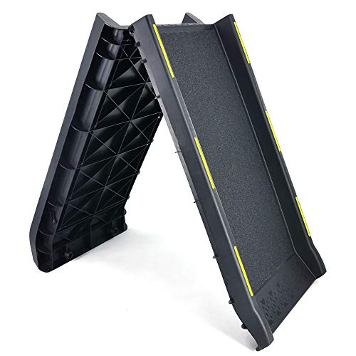 Bi-Fold Pet Ramp for Dogs/Cats Supports up to...