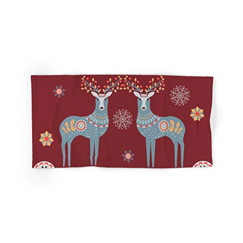Society6 Nordic Winter Red by Lavieclaire on Hand & Bath Towel - Set of 4 (2 Hand, 2 Bath)