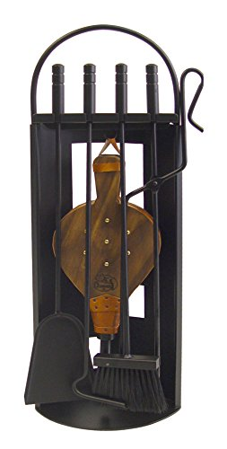 Imex El Zorro 10026 Juego para Chimenea Arco-Chapa con Fuelle, 68 x 23 x 14 cm, Metal, Negro, 14x23x68 cm
