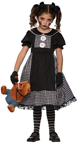 Forum Novelties Child's Dark Rag Doll Costume, Large