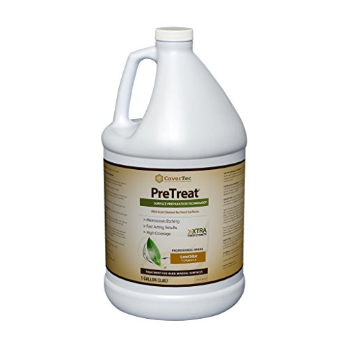 PreTreat Floor Acid Cleaner and Etching Treatment for Ceramic Tiles, Concrete (1 GAL - Prof Grade)