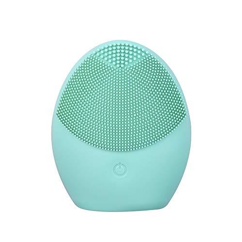 OCLOO Elektrische Gesichtsreinigung Pinsel Intensivreinigung des Gesichts Ultraschall-Silikon-Schönheits-Augen-Massage Gesichtsreinigung Instrument (Color : Green)