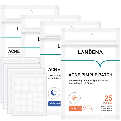 YOUNG VISION Hydrocolloid Acne Pimple Patches (106 Count), Tea Tree Oil Fast Healing Acne Stickers,...