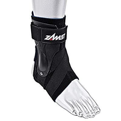 Zamst Ankle Brace Support Stabilizer: A2-DX Mens & Womens Sports Brace for Basketball, Soccer, Volleyball, Football & Baseball,Black,Right,Large