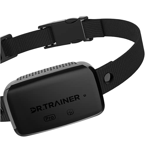 Dr.Trainer B1sPro Bark Collar APP&Watch Control, IP68 Waterproof Dog Training Collar with Smart Progressive Correction & Barking Report & Custom Sound, 0~99 Static Level Rechargeable Anti Bark Collar