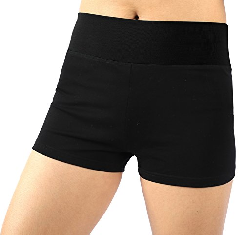 Neonysweets Womens Workout Yoga Short Pants Exercise Gym Shorts Black M