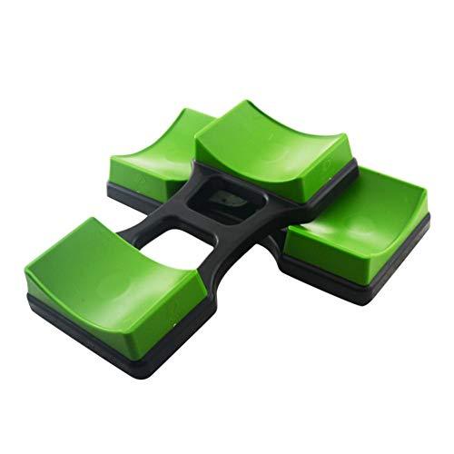 chinejaper Paar Hantel Rack Barbell Ständer Kurzhantelablage Hantelablage Gewichtheben Boden Halterung Gewicht Sets Grün + Schwarz,194 X100 Mm/245 X 105 Mm