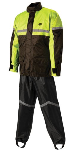 Nelson-Rigg SR-6000-HVY-04 Stormrider Rain Suit (Black/High Visibility Yellow, X-Large)