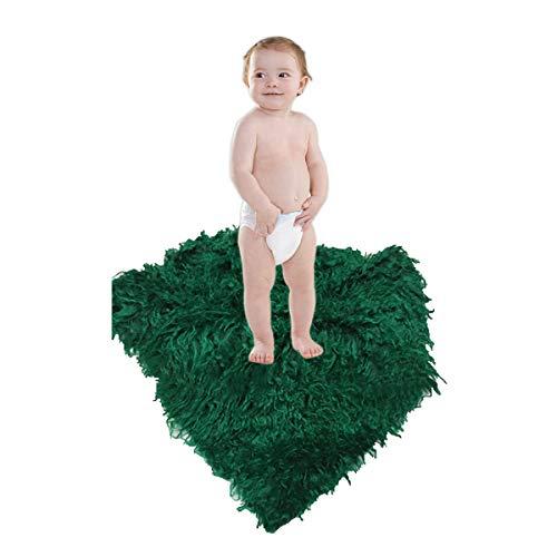 Mibuy Baby Fotografie Requisiten Decke Weich Matte Neugeborene Fotografische Lange Mat Wrap Kind Vollmond Geburtstag Fotohintergrunddecke Shaggy Quilt
