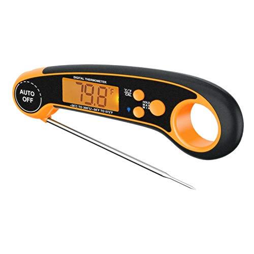 Fenteer Termómetro Digital para Carne para Cocinar Y Asar a La Parrilla, Lectura Instantánea de 2 Segundos Y Precisión Y Resistente Al Agua IP67, para Du - naranja
