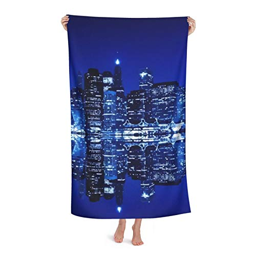 Toallas de playa personalizadas, Nueva York, color blanco y negro, estético personalizado microfibra toalla toalla de piscina manta 31 x 51 pulgadas