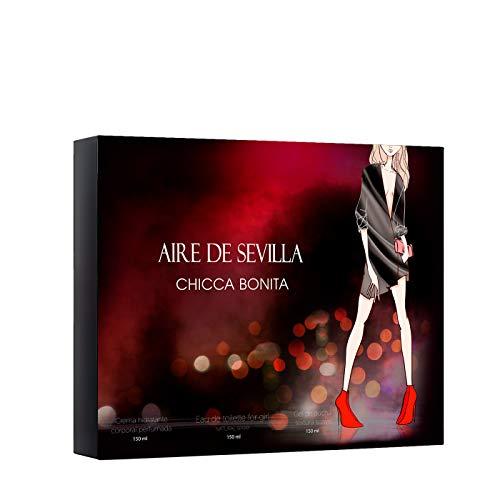 Set Perfume Chicca Bonita Aire de Sevilla - EDT, Crema Hidra
