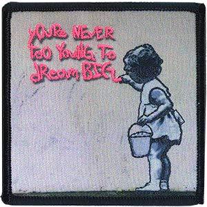 Banksy's Graffiti Dream Big Patch - Graffiti Künstler Banksy Dream Big Patch Bügelbild Aufbügler Patch
