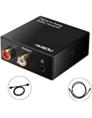 Musou DAC de Audio Convertidor de Digital a Analógico con 3.5mm Audio jack Toslink y SPDIF R/L Adaptador de Audio para PS3 4 Xbox Android Box HDTV Blu-ray Home Cine