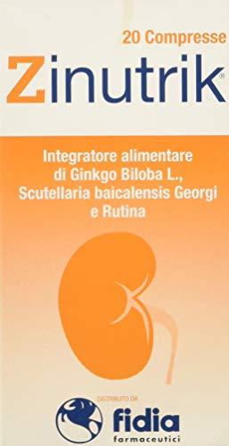 Akademy Pharma Zinutrik Integratore Alimentare a Base di Ginkgo Biloba L, Scutellaria Baicalensis Georgi e Rutina - 20 compresse