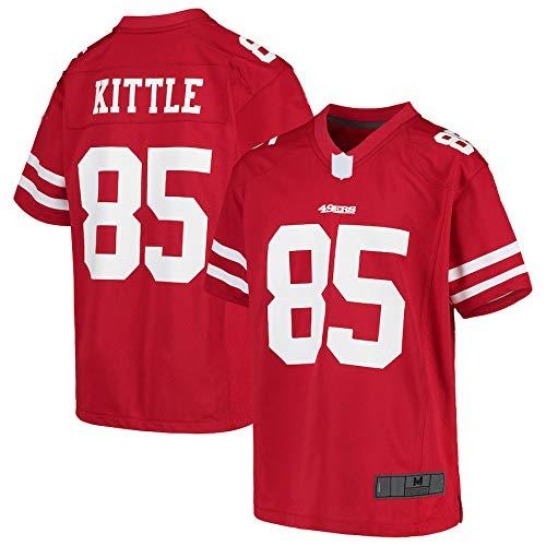 EWRFS Red – Maglione da calcio americano, taglia unica, taglia unica, taglia S. #85 George Francisco 49ers Youth Game Pullover Quick-Drying Sportswear For Youth