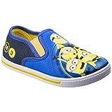 Leomil - Zapatillas Infantiles sin Cordones diseño de los Minions para niños (30 EU) (Azul/Aamarillo)