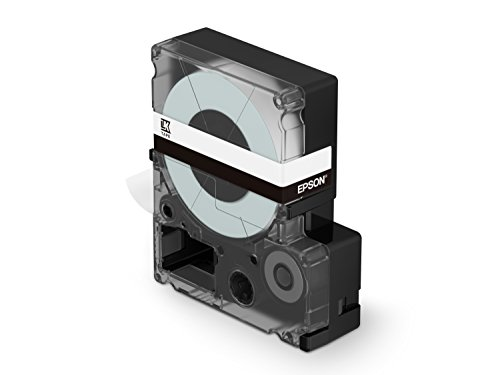 """Epson LabelWorks Standard LK (Replaces LC) Tape Cartridge ~1"""" Black on White (LK-6WBN) - for use with LabelWork LW-600P and LW-700 Label Printers Photo #2"""