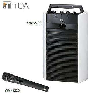 TOA デジタルワイヤレスアンプ・ワイヤレスマイクセット WA-2700×1 WM-1220×1 シングルタイプ