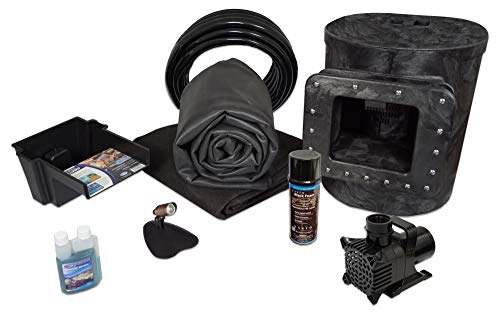 HALF OFF PONDS - Simply Ponds 1200 Water Garden and Pond Kit with 8 Foot x 10 Foot EPDM Liner - X8-3
