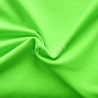 Neon Lime Green Matte Tricot Knit Fabric for Swimwear Activewear Sportswear -1 Yard