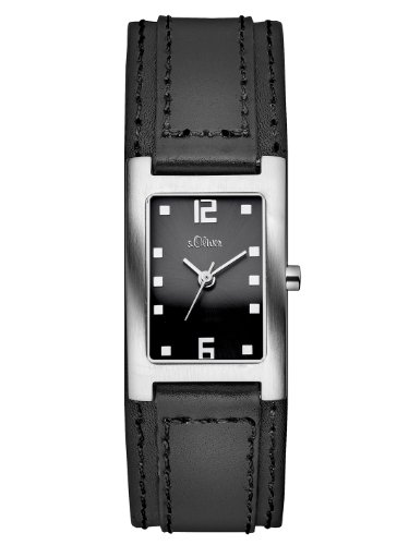 s.Oliver Damen-Armbanduhr Casual Analog Quarz Leder SO-2500-LQ
