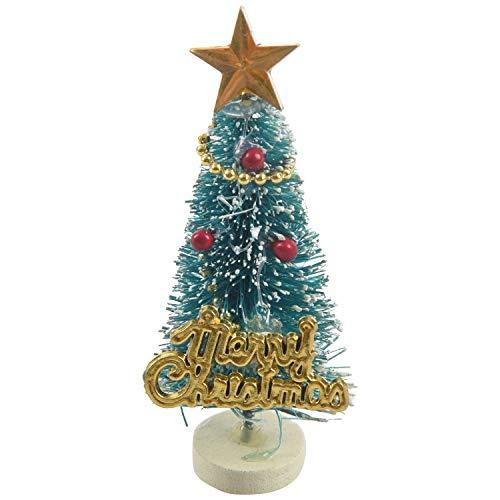 SODIAL Arbol de Navidad en Miniatura de Casa de Munecas 1: 12 Tablero de Letras Merry Christmas Decoracion del Soporte de Madera
