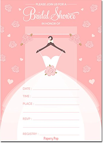 30 Bridal Shower Invitations with Envelopes (30 Pack) - Wedding Shower Invitations