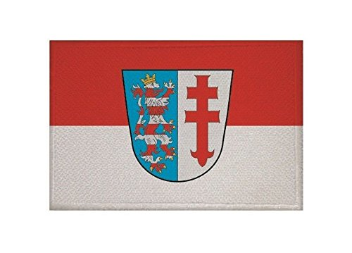 U24 Aufnäher Bad Hersfeld Fahne Flagge Aufbügler Patch 9 x 6 cm