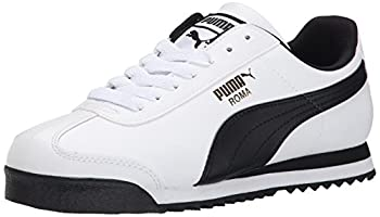 PUMA Men s Roma Basic Fashion Sneaker White/Black Leather - 9 D M  US