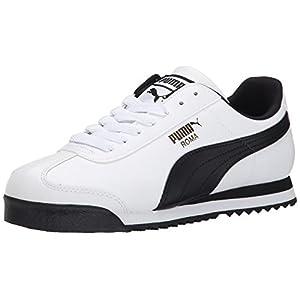 PUMA Men's Roma Basic Fashion Sneaker, White/Black Leather - 11 D(M) US