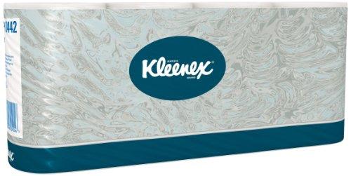 Kleenex Toilettenpapier, Standard Großpackung, 2-lagig, 64 Rollen x 350 Blätter, weiß, 8442