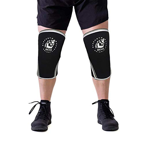Non Slip Breathable Knee Sleeve Braces - Breathable and Washable 7mm Strength Neoprene Non Slip Knee...