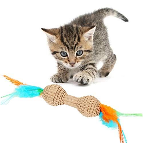 WPCASE Rascador Gato Carton Pluma De Papel Corrugado Juguetes para Gatos Garra De Molienda Juguetes Educativos Juguetes para Gatos Juguetes De Plumas para Gatos a