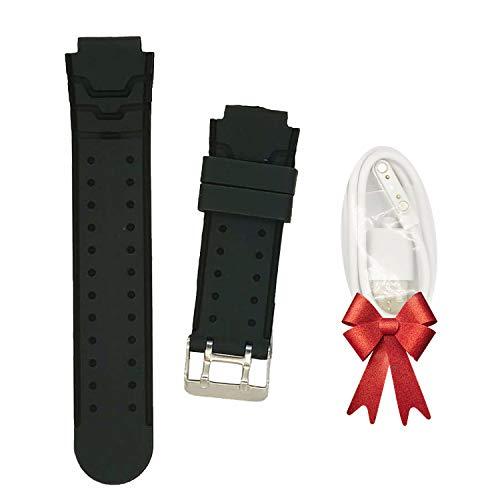 PTHTECHUS S12 Kids Smartwatch Band - Reloj para niños Strap + Cable de Carga para Relojes Inteligentes S12 (Black)
