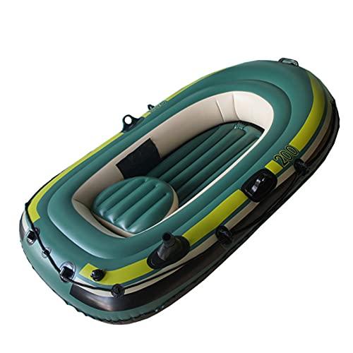 LANGTAOSHA Bote Inflable, Balsa, Kayak Inflable con Paleta De Cuerda De Bomba, Bote Inflable para 2-3 Personas, Bote Pontón para Adultos, Pesca, Kayak,2 Person