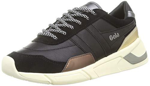Gola Damen Eclipse Trident Sneaker, Black/Bronze/Gold, 40 EU