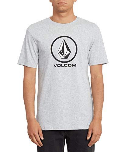 Volcom Crisp Stone BSC SS Camiseta, Hombre, Gris, Extra-Small