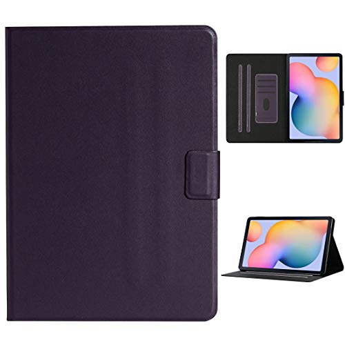fire bird Simple and practical For Samsung Galaxy Tab A 10.1 2019 T510/T515 Solid Color Horizontal Flip Leather Case with Card Slots & Holder, Simple and practical (Color : Purple)