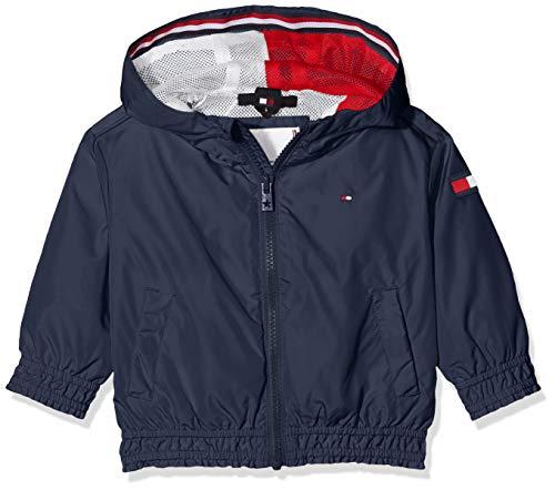 Tommy Hilfiger Mädchen Essential Light Weight Jacket Jacke, Blau (Twilight Navy C87), 3-4 Jahre (Herstellergröße: 3)
