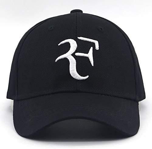 Atten Tennis-Star Roger Federer Baseballmütze Tennis beiläufige Kappe,Black