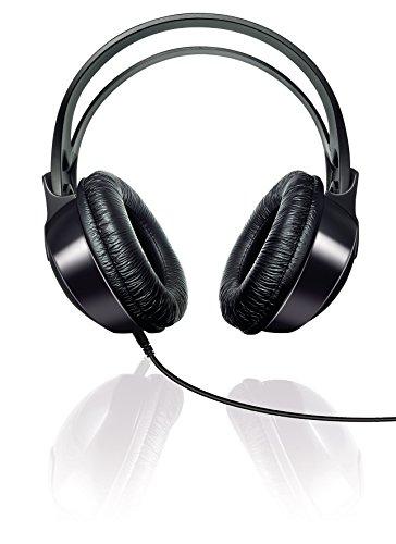 Philips Audio SHP1900/10 Over Ear HiFi-Kopfhörer mit Kabel (Anpassbarer Kopfbügel, Große Ohrmuscheln, Leichtes Design, 2 m Kabel) schwarz, Vorband verstellbar