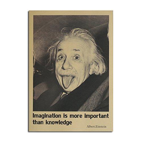 Global Brands Online Affiche d'Einstein Affiche de Papier en Papier de Kraft ÉCran de Mur de Bricolage 21 Pouces X 14 Pouces